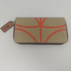 NEW!! Classic Orla Kiely Flat Zip Wallet